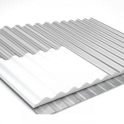 Telha isopor ondul 17/980 200x100x3cm bandeja