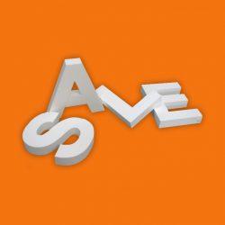Letras e logotipos recortados